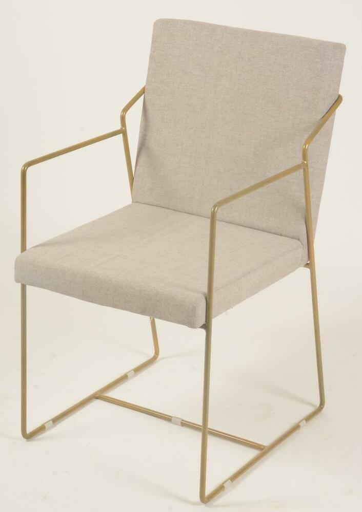 Dining chair retro 1950s 1960s look brass finish for Dining chairs metal frame