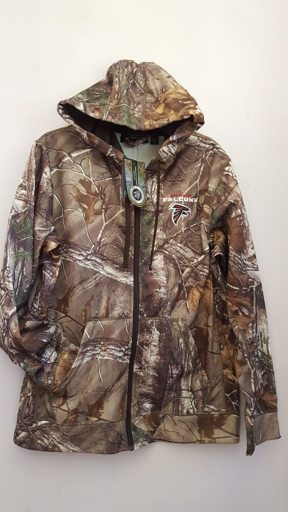 New Nfl Med 4xl 5xl Realtree Atlanta Falcons Mens Zip