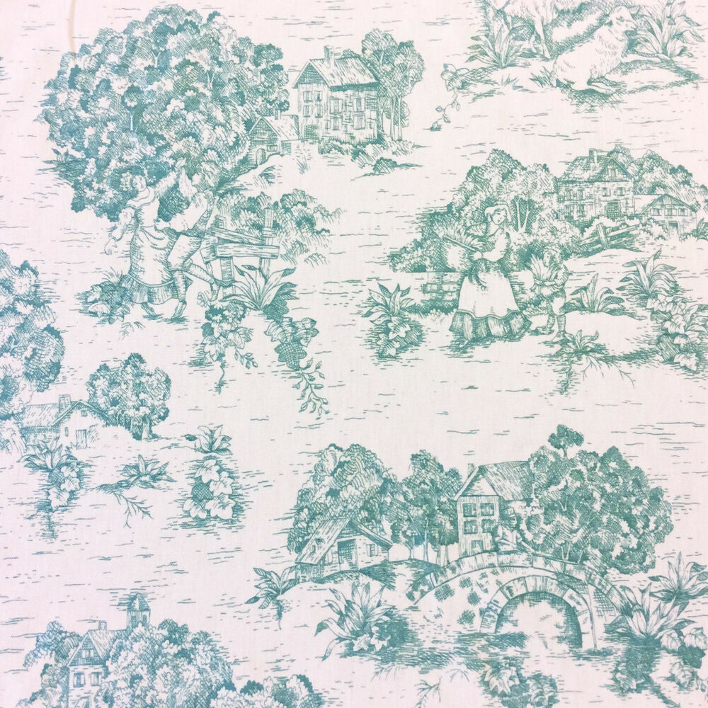 Ldso523 classic french toile de jouy country english for French toile fabric