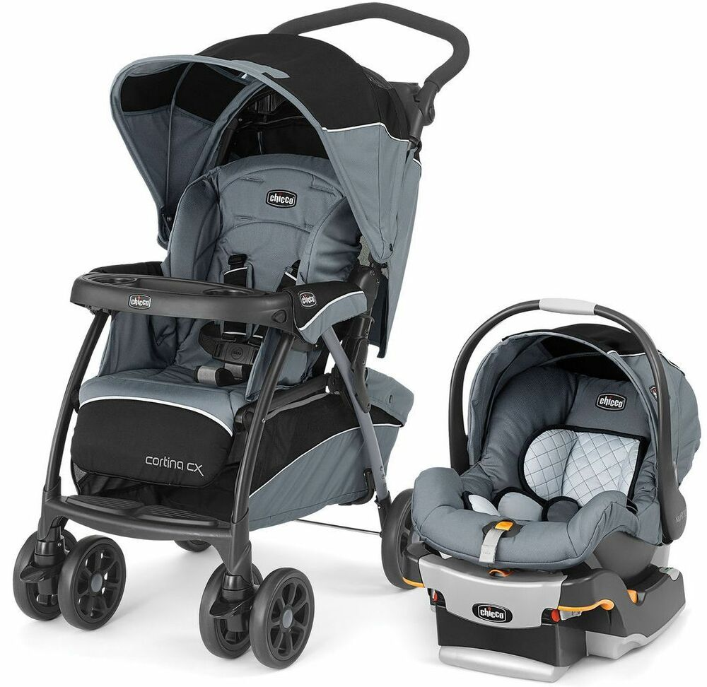 chicco cortina cx baby travel system stroller w keyfit 30 car seat iron new 2016 ebay. Black Bedroom Furniture Sets. Home Design Ideas