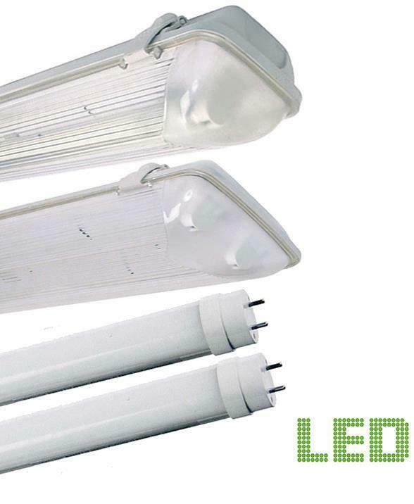 LED NON CORROSIVE LIGHT FITTING SINGLE OR TWIN