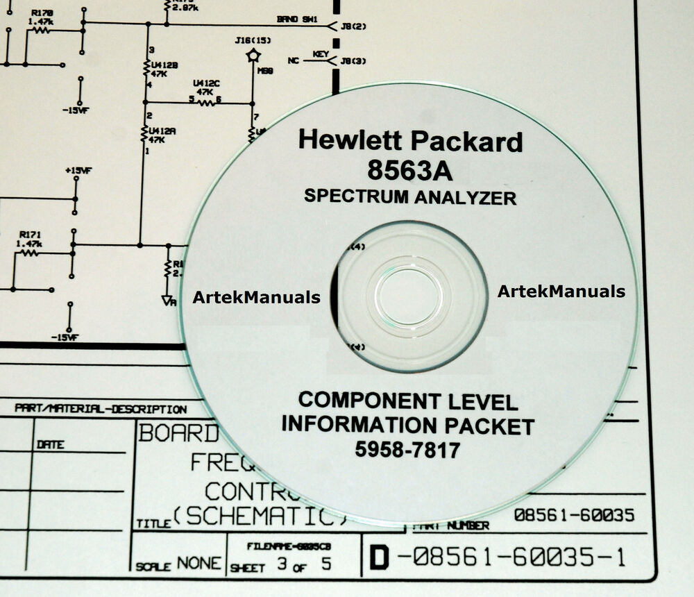 hewlett packard service clip schematics manual for the 8563a rh ebay com Owner's Manual Parts Manual
