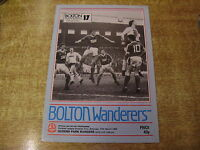 1982/83 DIVISION TWO - BOLTON WANDERERS v QUEENS PARK RANGERS