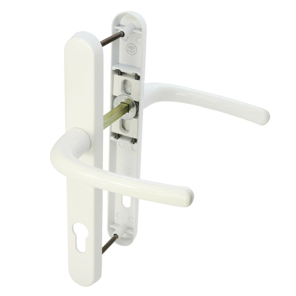 white upvc door handle 92pz lever lever 210mm fixings long. Black Bedroom Furniture Sets. Home Design Ideas