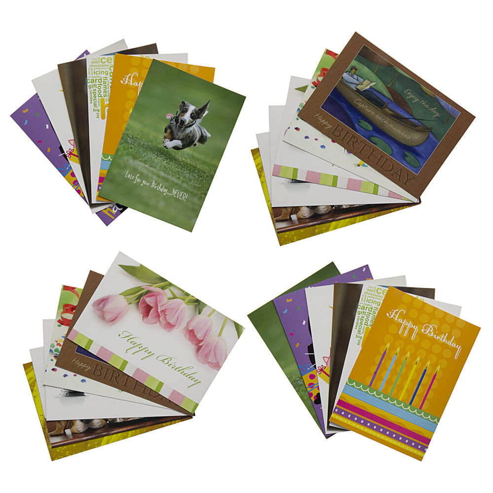 24 Pack Happy Birthday Greeting Cards Assortment With