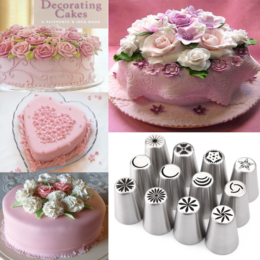 12 Icing Piping Nozzle Tips Set Russian Tulip Cake