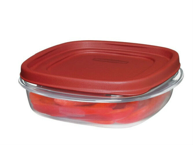 Rubbermaid 3 Cup Easy Find Lid Square Food Storage