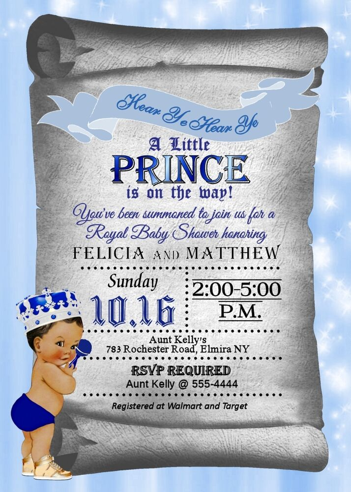 Prince Baby Shower Invitations, Baby Boy Shower ...