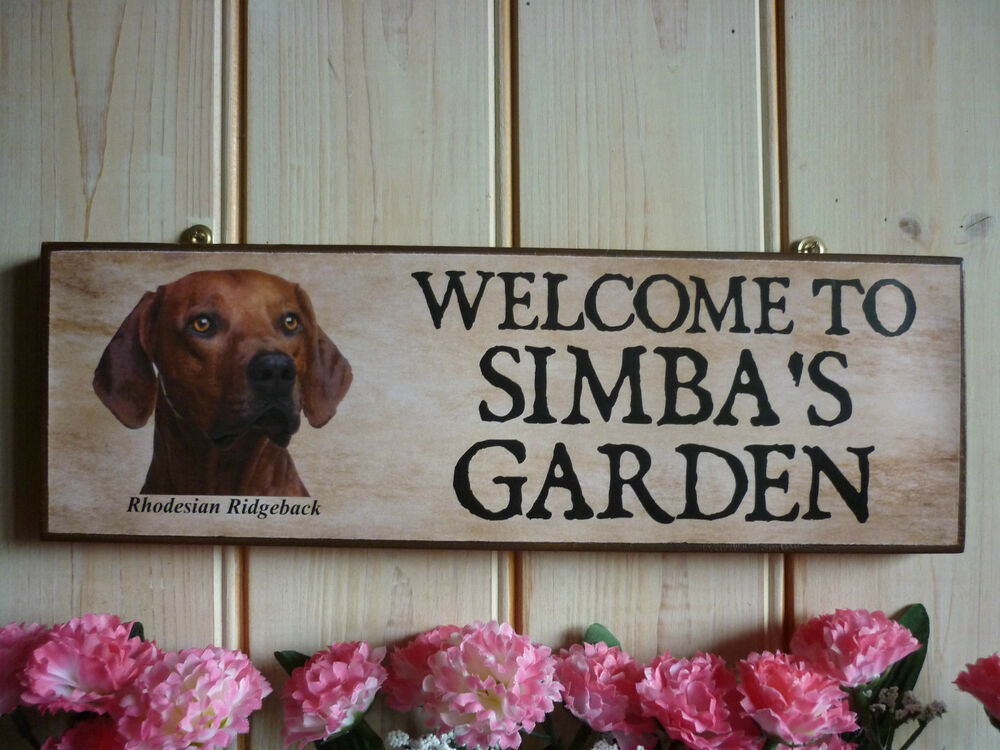 Binnenhuisinrichting HANDMADE DOG SIGN PERSONALISED DOG GIFTS RHODESIAN RIDGEBACK PLAQUE HOUSE SIGN