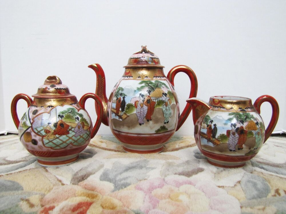 vintage japanese tea sets