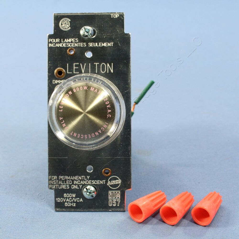 Ge Clear Single Pole Lighted Rotary Dimmer Switch Push On