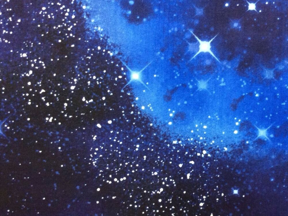 Rpftt56n space galaxy stars twilight starry night sky for Space cotton fabric