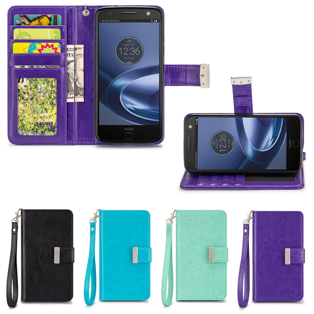 Contact Case: IZENGATE ID Cell Phone Folio Wallet Case Flip Cover PU