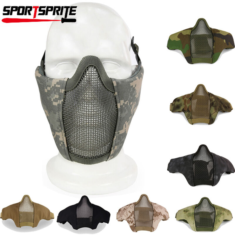 Tactical Hunting Metal Mesh Airsoft Paintball Protective ... Paintball Gear And Protection