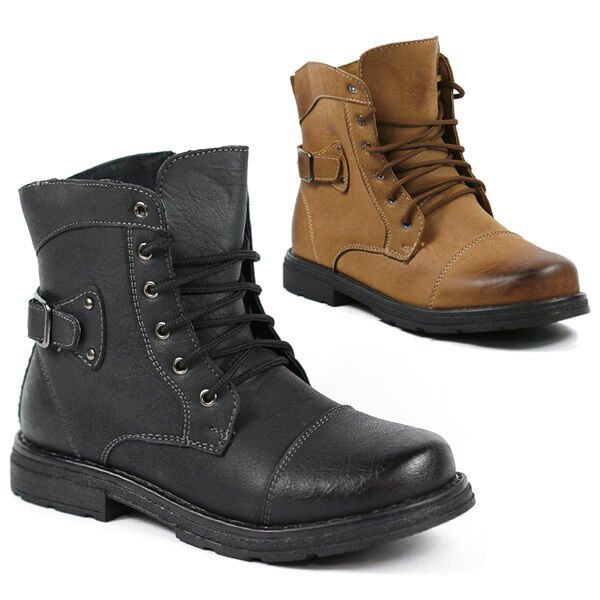 Boy&amp039s Kids Hiking Military Combat Work Desert Ankle Boot