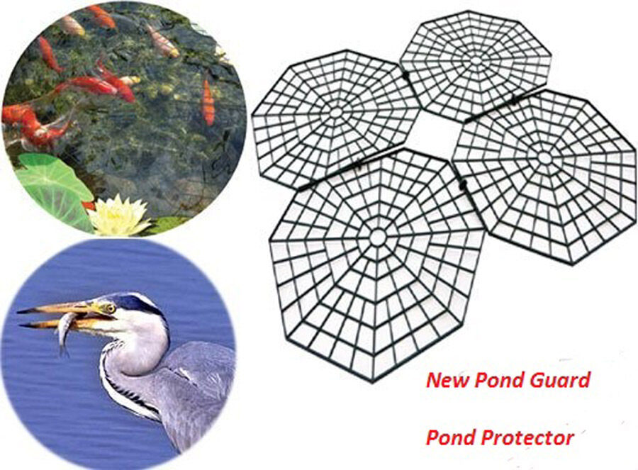 Pond guard herron cat protector scarer fish net protection for Fish pond protection