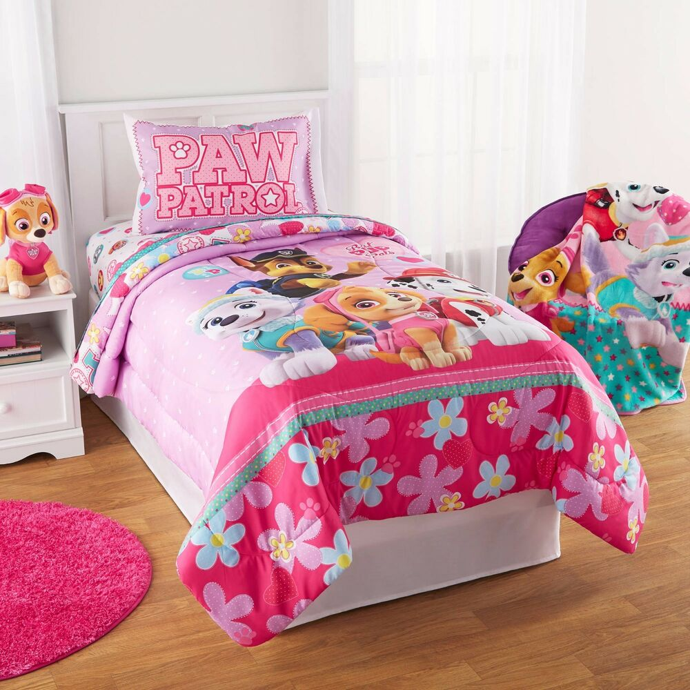Paw Patrol Puppy Girls Nick Jr Twin Comforter Amp Sheets 4