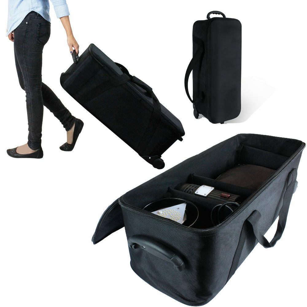 case bag equipment carry studio storage lighting padded rolls carrying camera