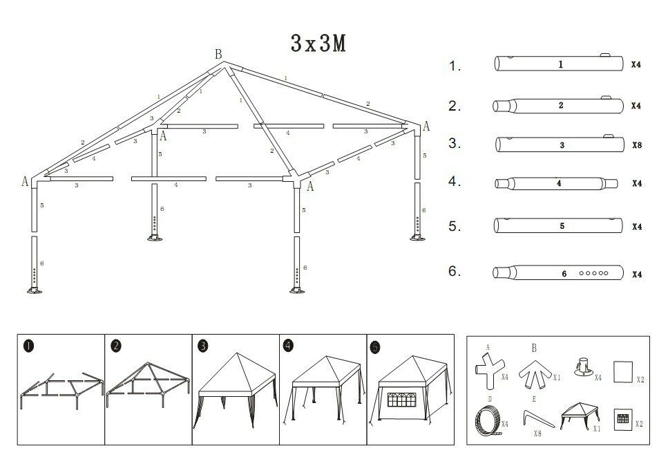Strong Camel 10 X10 Canopy Folding Tent Gazebo G105 300