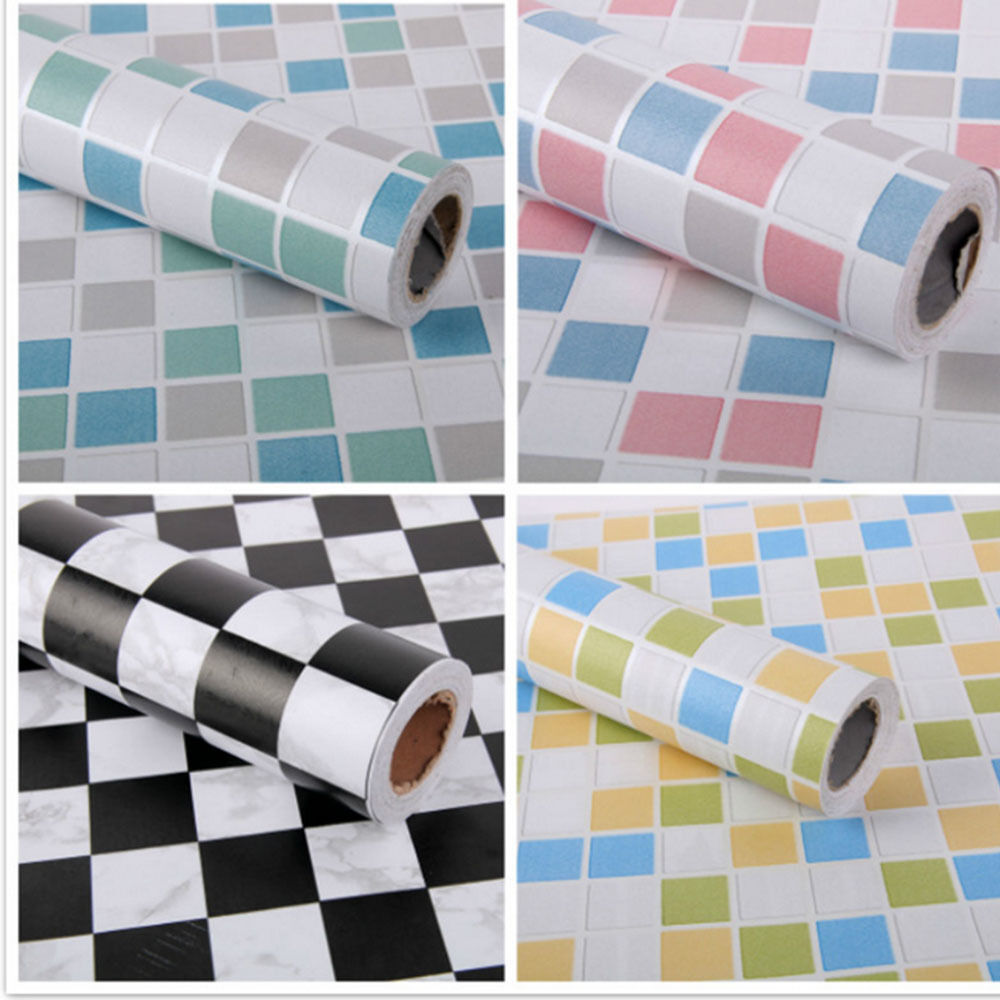 3d self adhesive wallpaper 1m mosaic tile effect vinyl for Peel and stick wallpaper for kitchen
