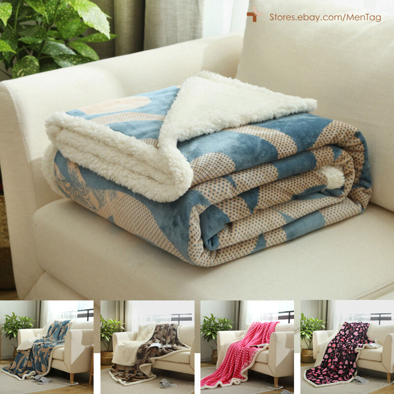Cashmere Velvet Reverse To Cloud Sherpa Throw Blankets