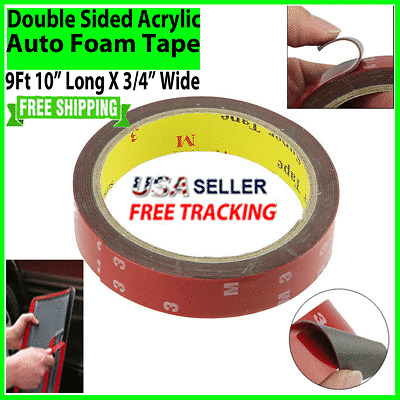 Auto Truck Car Acrylic FOAM TAPE Adhesive 3m x 20mm Double Sided Attachment NEW