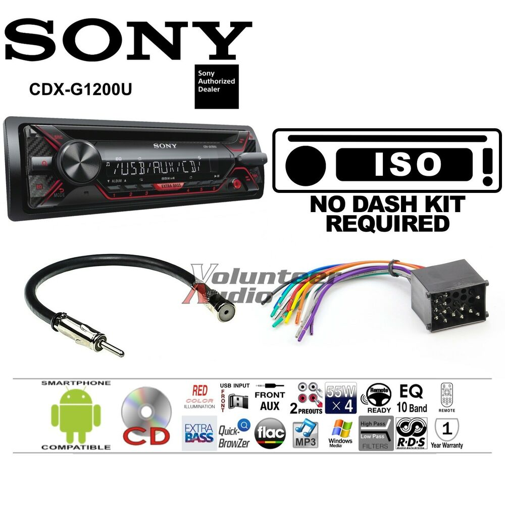 sony car radio stereo cd player dash install mounting kit harness antenna ebay