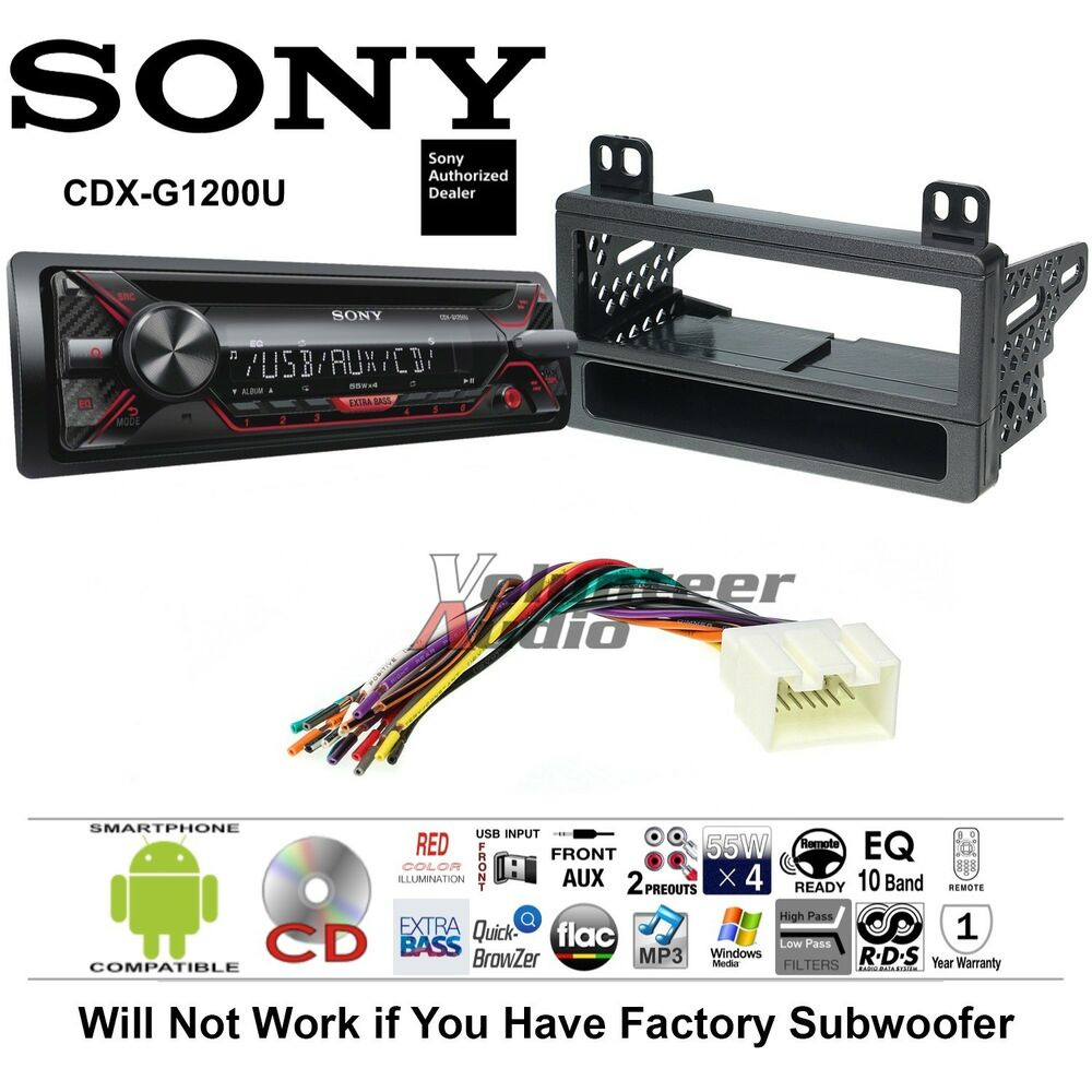 Sony Cd Car Stereo Radio Kit Dash Installation Mounting With Wiring Harness For Audiophile Sub Help Ebay