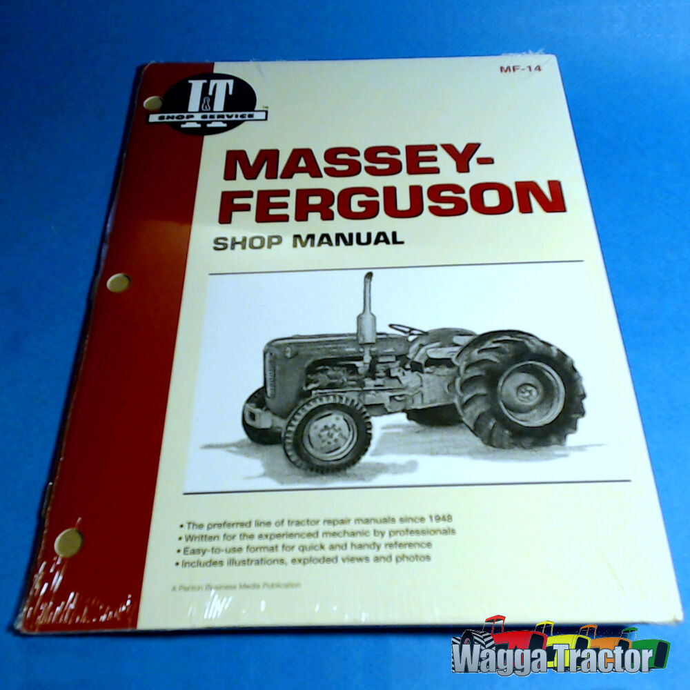 MF14 Workshop Manual Massey Ferguson 35 Tractor w MF 23C & PK 152 Diesel  Engine 24185812456 | eBay