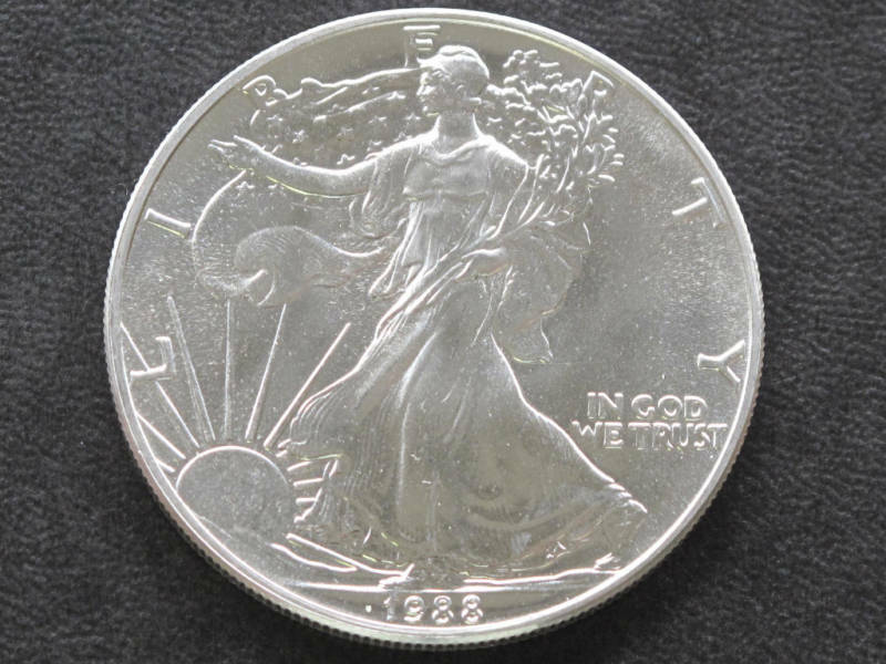 1988 Liberty Walking American Silver Eagle Dollar Coin Ebay