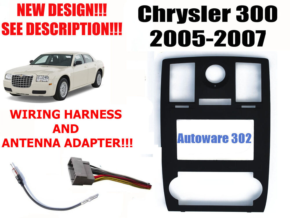 2005 Chrysler 300 Radio Wiring Harness : Chrysler double din car stereo radio dash kit w wire