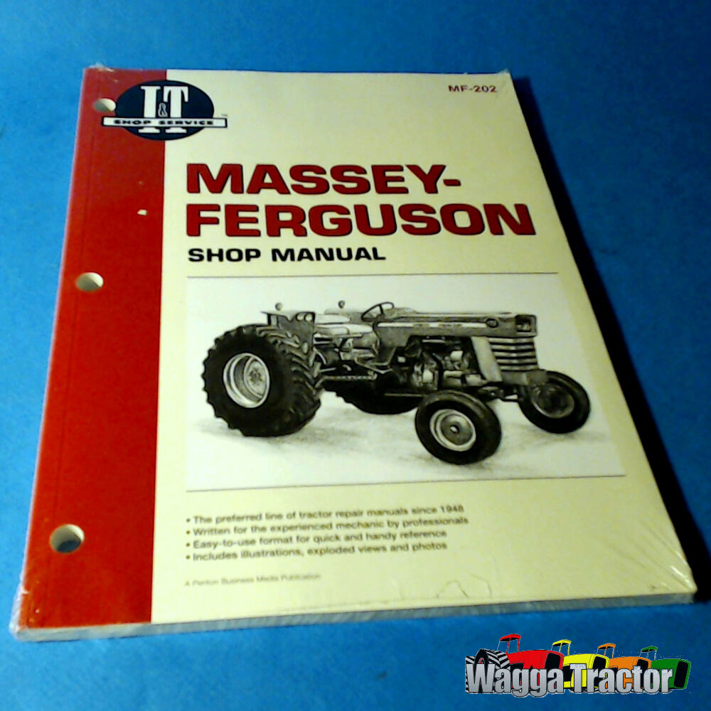 MF202 Workshop Manual Massey Ferguson MF 175 2805 Tractor can use for 165  185 24185836209 | eBay