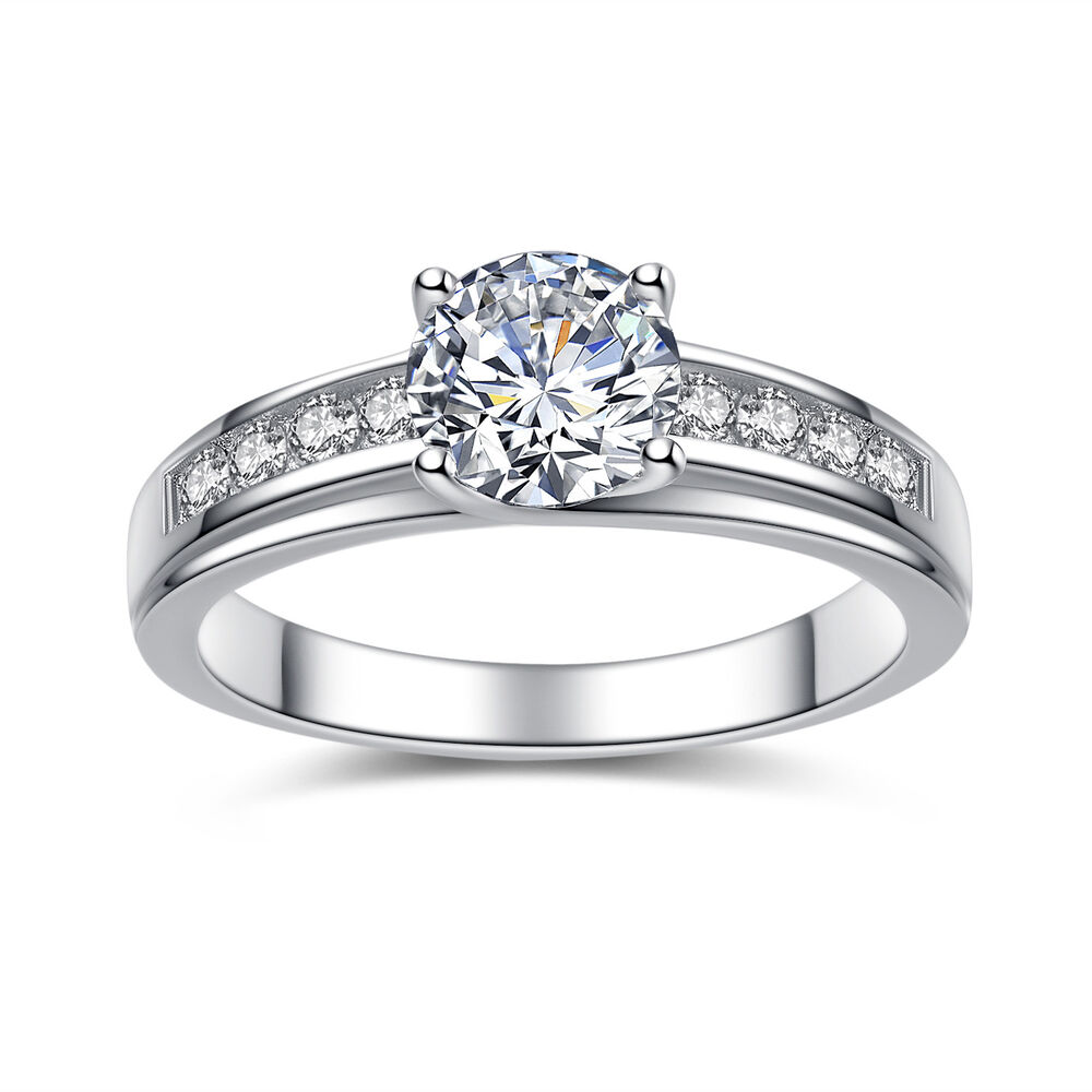 wedding rings for women solid 925 sterling silver solitaire 1 50 ct cubic 1038