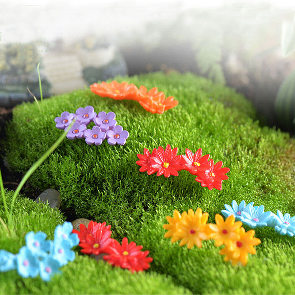 10pcs fairy miniature bonsai craft garden landscape moss for Decorative flowers for crafts