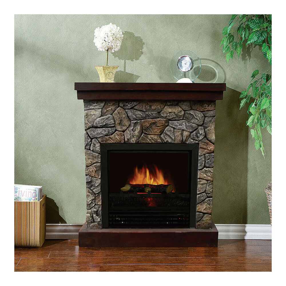 Hearth Cabinet Fireplaces: Stonegate Polystone Electric Fireplace With Mantel