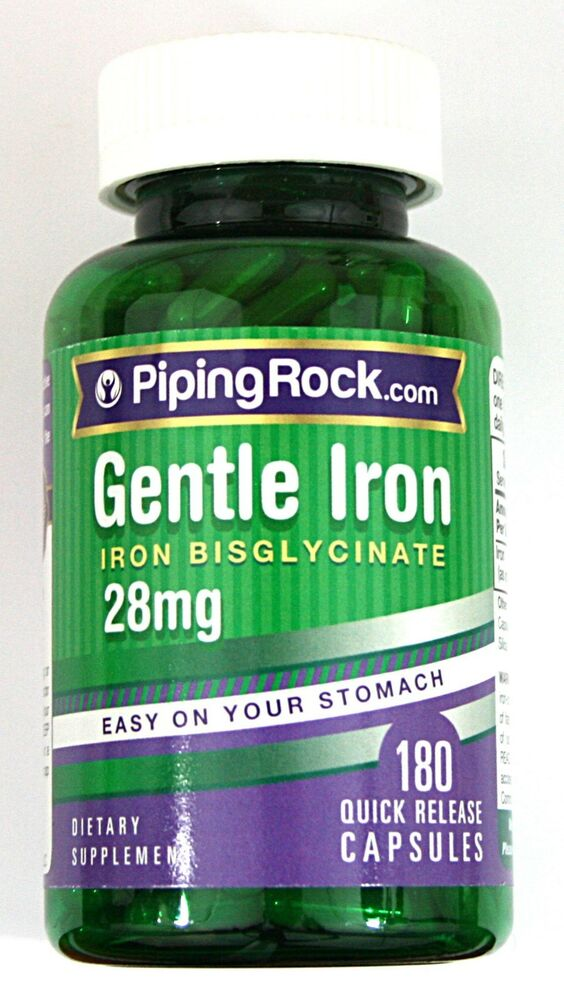 Gentle Iron 28mg 180 Capsules Easy On Your Stomach Dietary