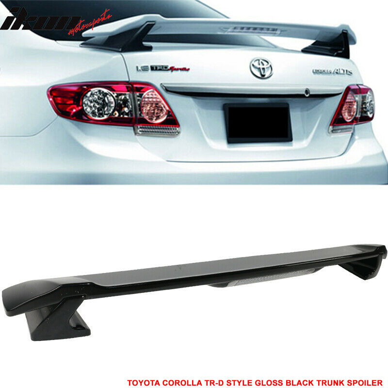 fit for 09 13 toyota corolla trd sportivo trunk spoiler. Black Bedroom Furniture Sets. Home Design Ideas