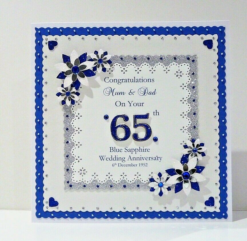 Th sapphire wedding anniversary card wife husband