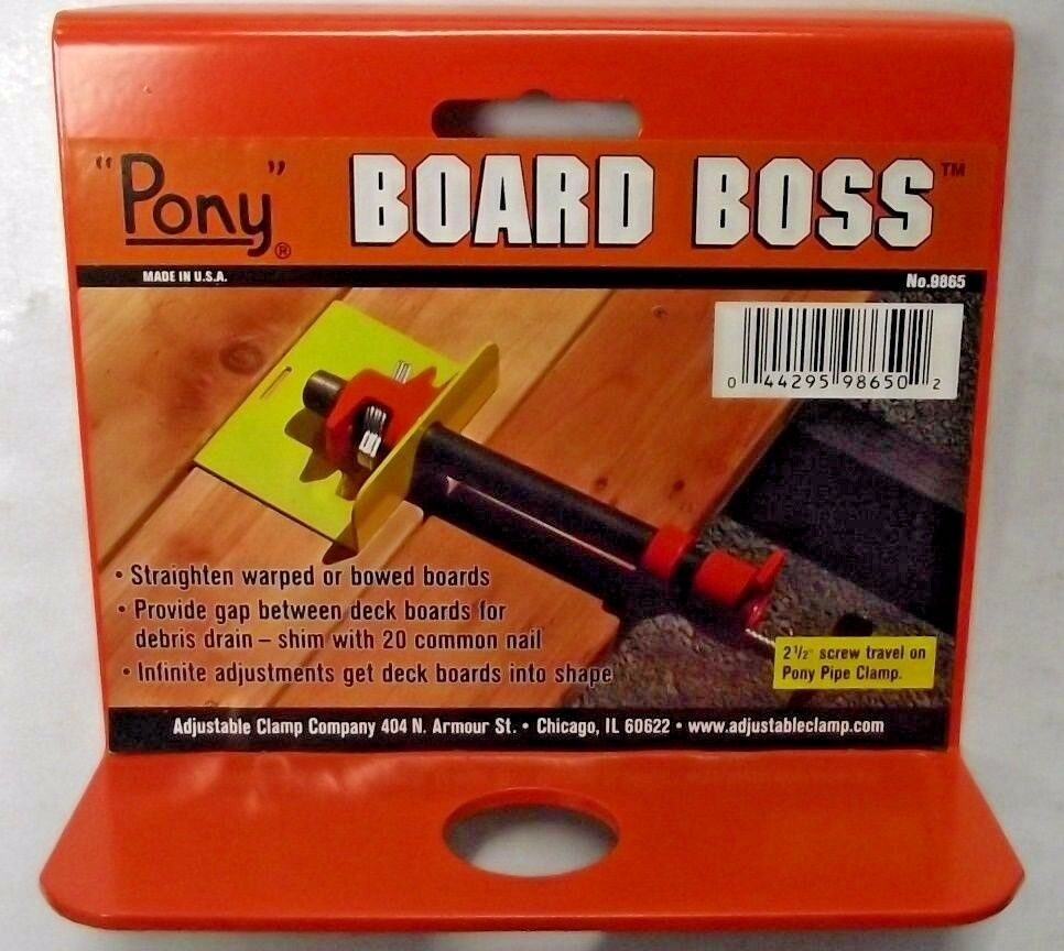 Pony board boss decking tool for deck installation