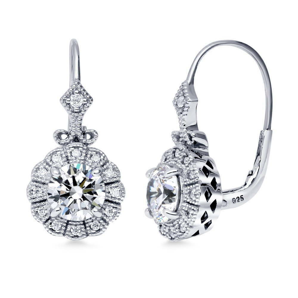 what are leverback earrings berricle sterling silver cz milgrain deco leverback 9959