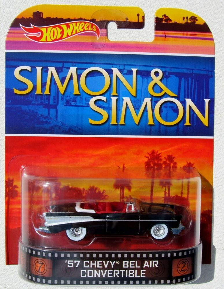 hot wheels 2014 retro tv shows simon simon 1957 chevy bel air convertible ebay. Black Bedroom Furniture Sets. Home Design Ideas