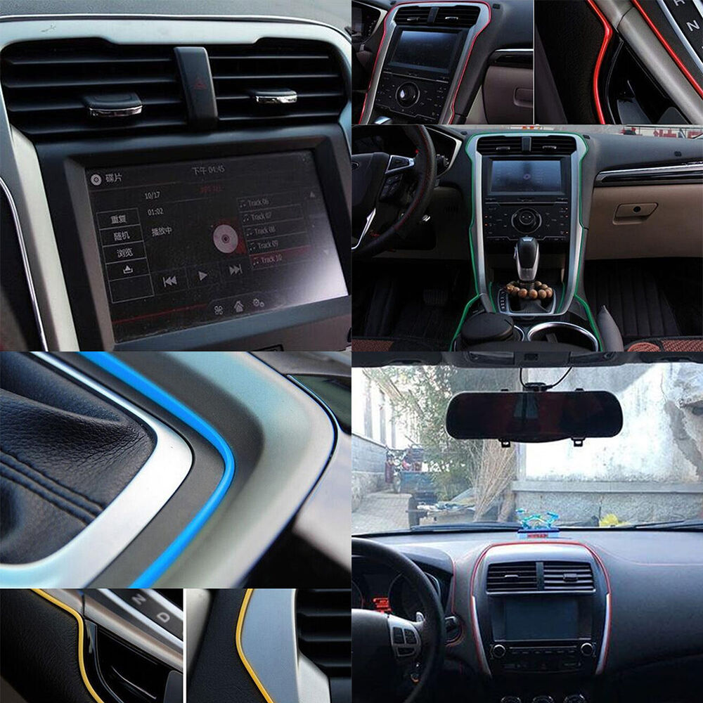 hot 5m diy automobile car interior exterior moulding trim decorative line strip ebay. Black Bedroom Furniture Sets. Home Design Ideas