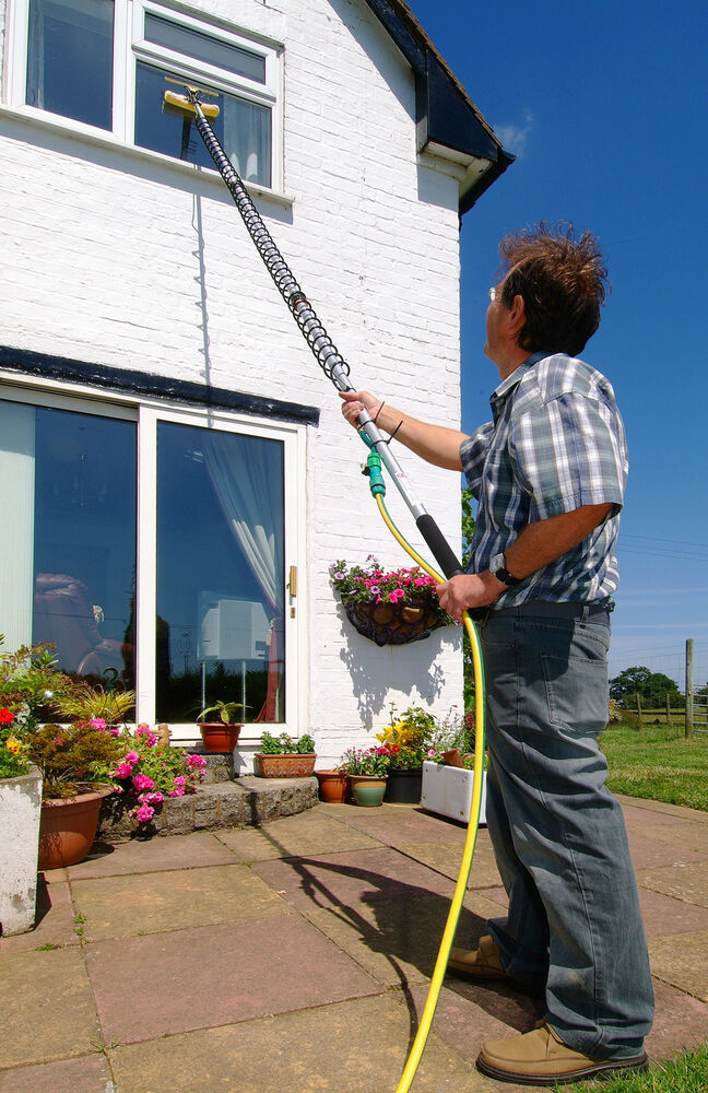 8 Metre Telescopic Window Cleaner Glass Cleaner Diy