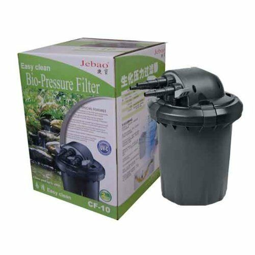 New jebao cf 10 9w bio high pressure self clean uvc pond for Cleaning pond filter