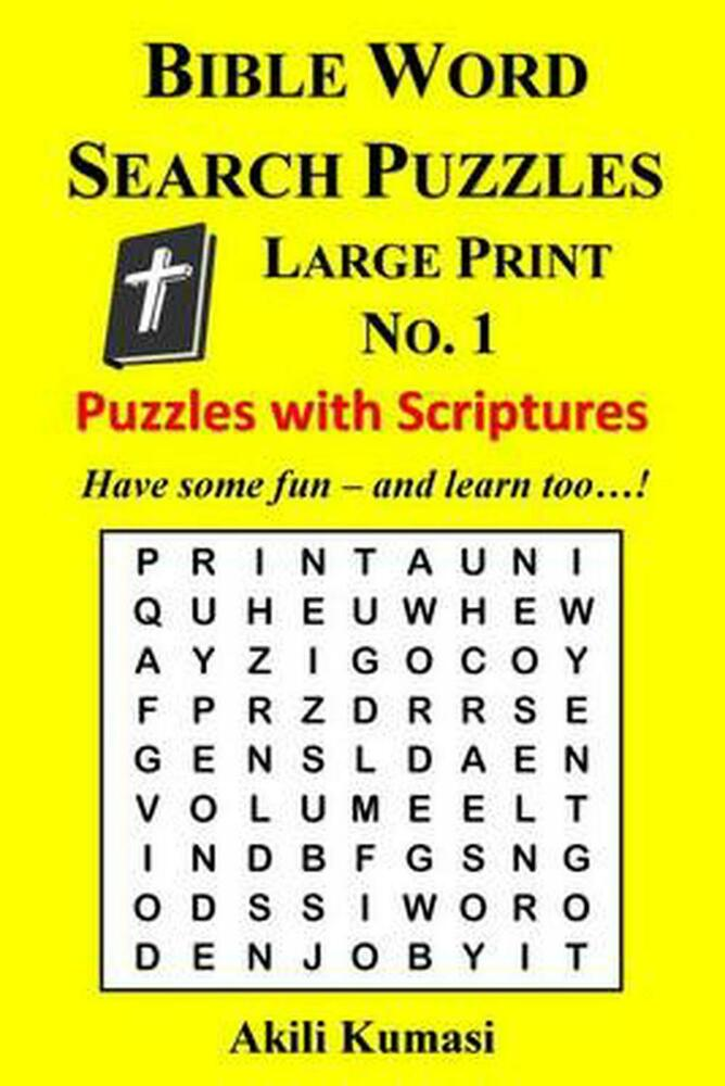It is a graphic of Crafty Large Print Bible Word Search Puzzles Printable