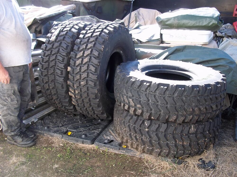 4 Military Surplus Tires 395 85r20 Goodyear 5 Ton Truck