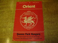 1974/75 LEAGUE CUP 2ND ROUND REPLAY - ORIENT v QUEENS PARK RANGERS