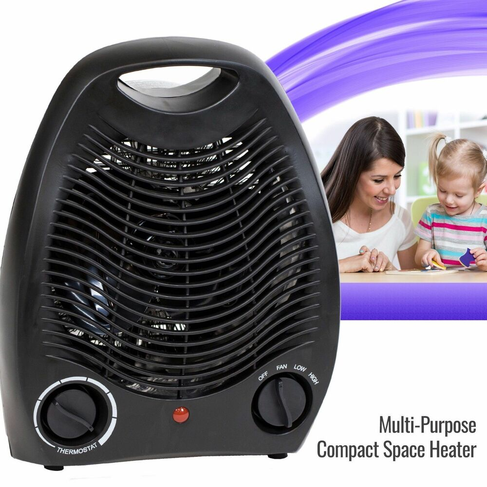 Portable Fan Heaters For Home : Portable space heater electric home fan compact quiet