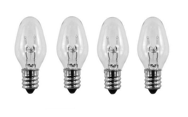 4 Pack Light Bulbs 15w For Scentsy Plug In Warmer Wax