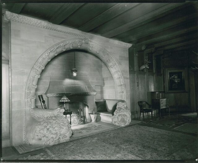 15th Century Medieval French Architectural Stone Fireplace